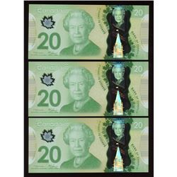 2000 Bank of Canada $20 - Lot of 3 Consecutive Notes