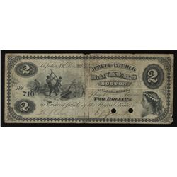 New Brunswick Scrip, Jewett and Pitcher $2, 1873