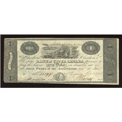 Bank of Upper Canada $1, 1820