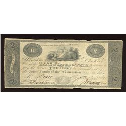 Bank of Upper Canada $2, 1820