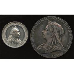 Queen Victoria Medals - Lot of 2