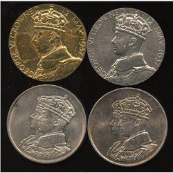 1937-1939 Royal Visit/Coronation Medal - Lot of 4