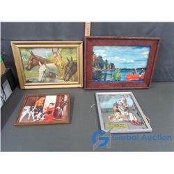 (4) Various Framed Artwork