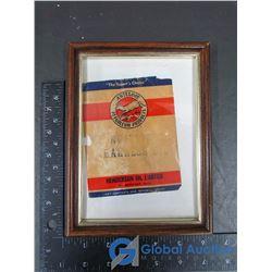 Antelope Petroleum Products Framed Label