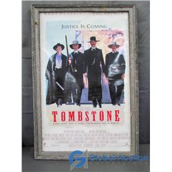 Framed Tombstone Movie Poster