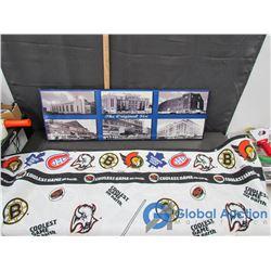 The Original Six Hockey Arenas and NHL Hockey Blanket