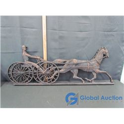 Trotting Horse and Buggy Wall Decor