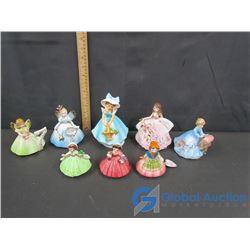 (8) Josef Originals Girl Figurines Including a Musical One