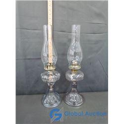 (2) Vintage Oil Lamps