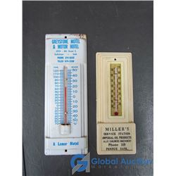Miller's and Greystone Motel Thermometers