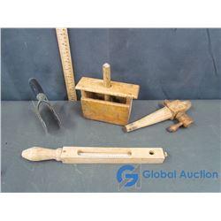 Vintage Wooden Dairy Tools