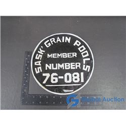 Sask Grain Pools Tin Sign