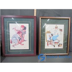 (2) Framed Artwork by Norman Rockwell