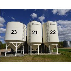 Wheatland ±2200 Bushel Hopper Bottom Grain Bin
