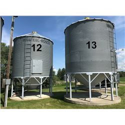 Westeel Rosco ±1800 Bushel 5 Ring Hopper Bottom Grain Bin