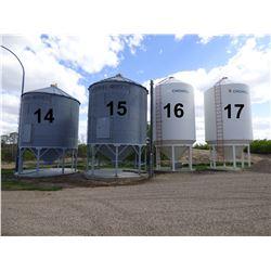 Westeel Rosco ±1800 Bushel 5 Ring Hopper Bottom Grain Bin