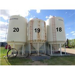 Wheatland ±1900 Bushel Hopper Bottom Grain Bin