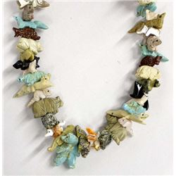 Native American Navajo Animal Fetish Necklace