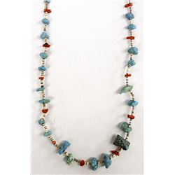 Vintage Native American Turquoise Nugget Necklace