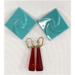 2 Vintage Pairs of Bakelite Earrings