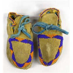 Native American Beaded Leather Child's Moccasins