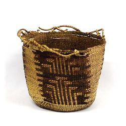 Antique Native American Skokomish River Basket