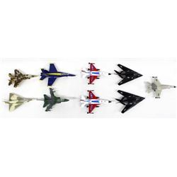Collection of Military Diecast Airplanes