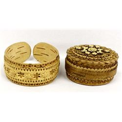 Hand Crafted Cork Cuff Bracelet & Trinket Box