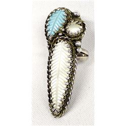 Native American Zuni Turquoise Ring, Size 7