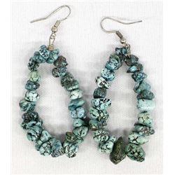 Native American Navajo Turquoise Nugget Earrings
