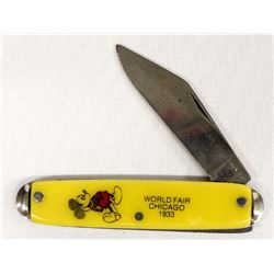 1933 Mickey Mouse Chicago World's Fair Knife