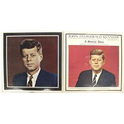 Two 1963 John F. Kennedy Memorial Record Albums