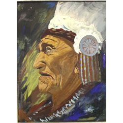 Original Painting of Native American Chief