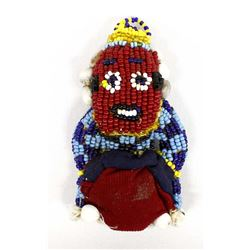 African Tribal Beaded Cloth Doll