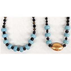 2 Kathy Kills Thunder Design Necklaces