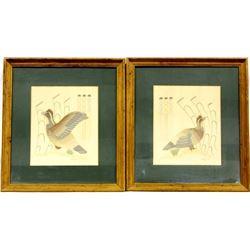 2 Vintage Navajo Bobwhite Quail Prints by Nailor