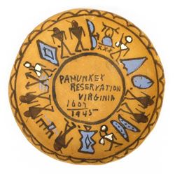 Pamunkey Reservation, VA Redware Pottery Bowl