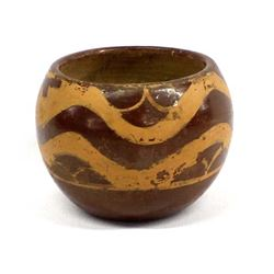 Antique Santa Clara Avanyu Pottery Jar by Kate