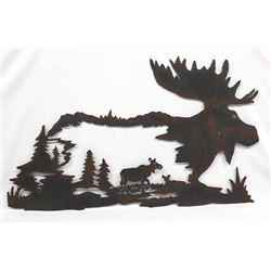 Moose Metalart Wall Decor