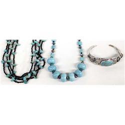 2 Kathy Kills Thunder Turquoise Necklaces