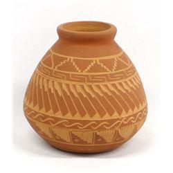 Native American Navajo Incised Pottery Jar