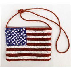 Beaded USA Flag Purse made in India