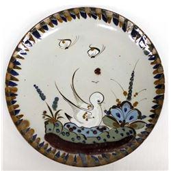 Tonala Bird Plate with Butterflies