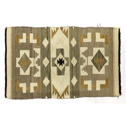Antique Native American Navajo Wool Textile Rug