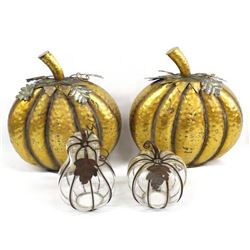 Decorative Pumpkins in Copper Clad & Glass