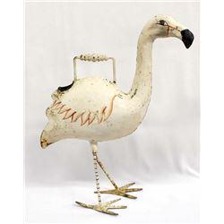 Antique Metal Flamingo Watering Can