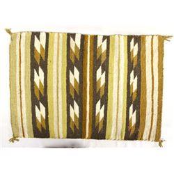 Navajo Wool Textile Rug by Katherine Lewis