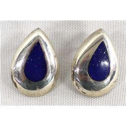Pair Sterling Lapiz Earrings