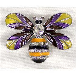 Rhinestone Bumble Bee Pin