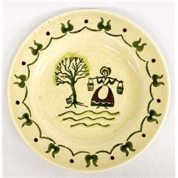 Antique Poppycock Homestead China Plate